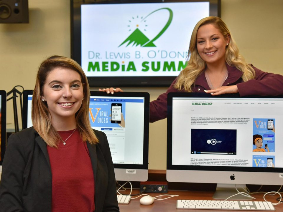 Students planning the Dr. Lewis B. O'Donnell Media Summit