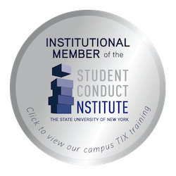 SUNY Student Conduct Institute Badge.